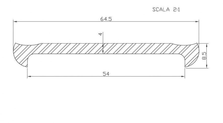 DISEGNO TECNICO ART. 366 - Guida per fascie cisterne